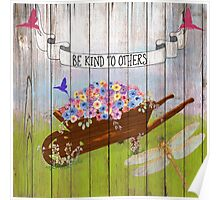 Be Kind To Others, Country illustration text art Poster