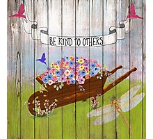 Be Kind To Others, Country illustration text art Photographic Print