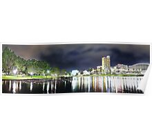 Adelaide City Lights Panorama Poster
