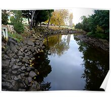 Creek bed reflections   -   Tasmania  -  Australia Poster