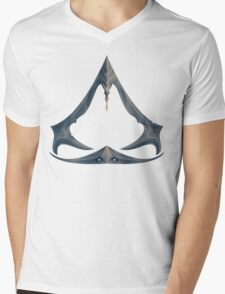 Emblem Mens V-Neck T-Shirt