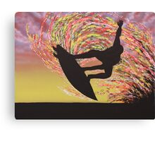 Grab Air Silhouette Canvas Print