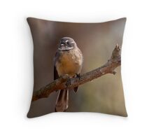 """Grey Fantail"" Throw Pillow"