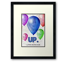 Up. Framed Print