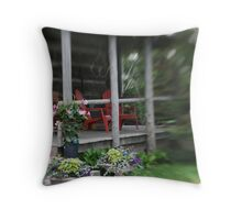 Little Red Chairs Throw Pillow