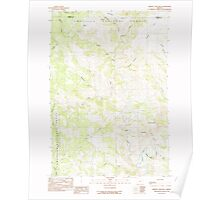USGS Topo Map Oregon Johnny Cake Mtn 280334 1990 24000 Poster