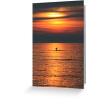 Bird in the Sunset Greeting Card