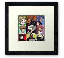 The Heros and Villians of Kingdom Hearts Framed Print