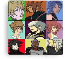 The Heros and Villians of Kingdom Hearts Canvas Print