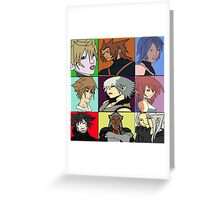 The Heros and Villians of Kingdom Hearts Greeting Card