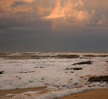 Rainbow over Merimbula new South Wales by Pauline Tims