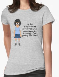 Tina Belcher Butts Womens Fitted T-Shirt