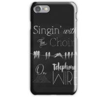 Singing Birds on a Wire chalkboard art iPhone Case/Skin