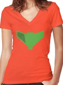 Metroid Prime Women's Fitted V-Neck T-Shirt