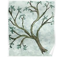Tree Branch #2, watercolor Poster