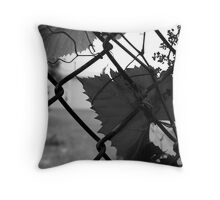 Fence in Black and White Throw Pillow