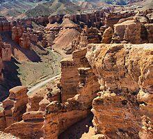 canyon  Charyn, Central Asia, Kazakhstan by Medeu