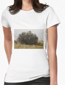 Where the suburbs end #4 Womens Fitted T-Shirt