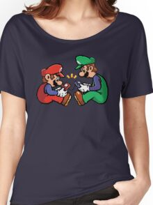 mario and luigi pixel Women's Relaxed Fit T-Shirt