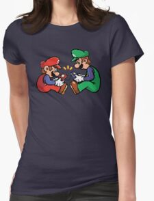 mario and luigi pixel Womens Fitted T-Shirt