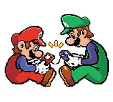 mario and luigi pixel Photographic Print