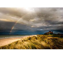 Bambrough Rainbow Photographic Print