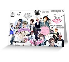 BTS/Bangtan Sonyeondan - Collage Greeting Card