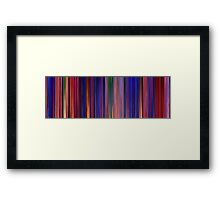 Moviebarcode: Aladdin (1992) Framed Print