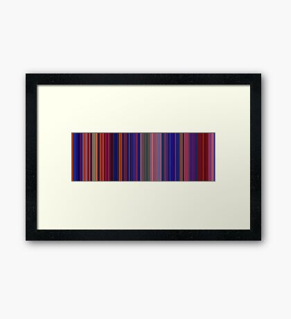 Moviebarcode: Aladdin (1992) [Simplified Colors] Framed Print
