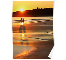 friends at sunrise Poster