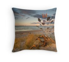 Red Hot Reeds Throw Pillow