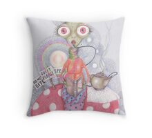 The Wonderland Caterpillar Throw Pillow