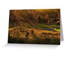 The Hill End woodchopper Greeting Card