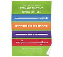 No346 My Teenage Mutant Ninja Turtles minimal movie poster Poster
