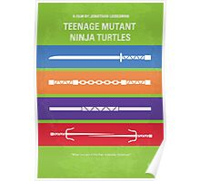 No346 My Teenage Mutant Ninja Turtles minimal movie poster Poster