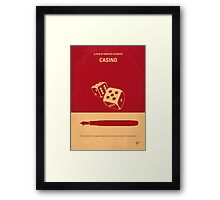 No348 My Casino minimal movie poster Framed Print