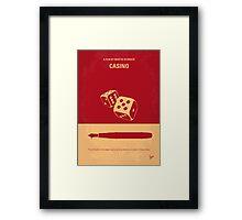 No348 My Casino minimal movie poster Framed Print