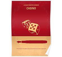 No348 My Casino minimal movie poster Poster