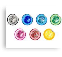 Colored disco ball stickers Canvas Print