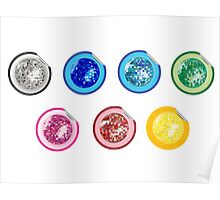 Colored disco ball stickers Poster