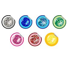 Colored disco ball stickers Photographic Print