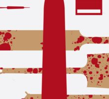No349 My Shaun of the Dead minimal movie poster Sticker