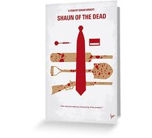 No349 My Shaun of the Dead minimal movie poster Greeting Card