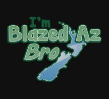 Blazed az Bro New Zealand kiwi map funny One Piece - Short Sleeve