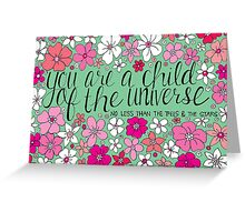 Child of the Universe Greeting Card