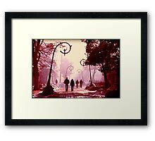 Streets of Zakopane. Framed Print