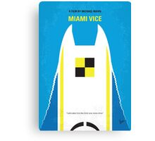 No351 My MIAMI VICE minimal movie poster Canvas Print