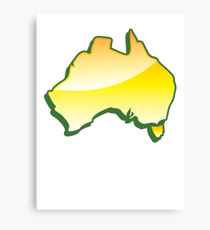 Australia Map simple in yellow Canvas Print