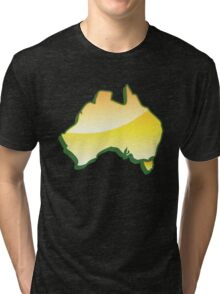 Australia Map simple in yellow Tri-blend T-Shirt