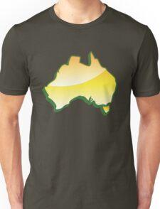 Australia Map simple in yellow Unisex T-Shirt